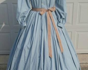 1860's Civil War Day Dress Size Large-READY TO SHIP