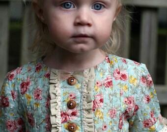 Sweet Lilly Pintuck Dress & Tunic, dress pattern pdf, PDF Sewing Pattern, Girls Pattern, flower girl dress, girls dress pdf, sewing pattern