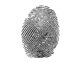 Fingerprint Embroidery Machine Design