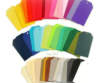 Tags, DIY Gift Tags, Escort Tags- Choose Your Colors & Quantity