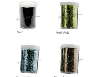 Large glitter - 15 g pot (many colors available)