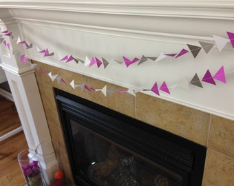 Aztec Garland || Triangle Garland || Purple Violet || Tribal || Geometric || Spring Garland || Party Decoration