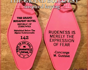 Pink W/ Black Print - The Grand Budapest Hotel Inspired Key