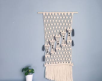 The 'Stairway' Macrame Wall Hanging / Handmade Knotted Wall Art