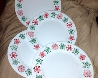 Corelle Impressions Cheerful Flurry Vitelle Luncheon Plates w