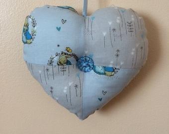 Peter Rabbit handmade fabric heart