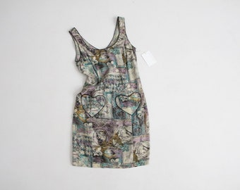 graffiti print dress | heart pocket dress | 80s print dress