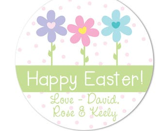 Green gingham easter bunny stickers personalized easter labels easter stickers hoppy easter personalized easter gift tags favor tags for easter easter flowers negle Image collections