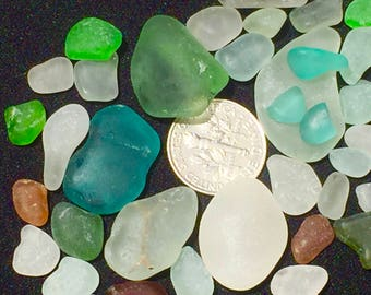 A-Sea Glass or Beach Glass of Hawaii SALE! AQUA! SEAFOAM! Bulk Sea Glass! Sea glass bulk! Seaglass! Mosaic Tiles! Genuine Sea Glass