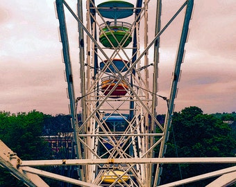 Ferris Wheel Photography Art Print great holiday gift size 8X10 to 24X36 poster