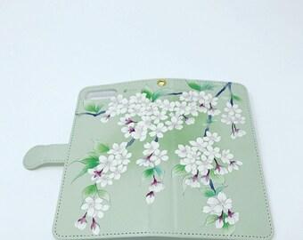 Cell Phone Case - Sakura / Maccha Green