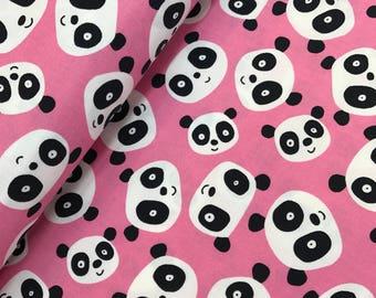 Pandas in Pink from the Pandas Collection by David Walker, Panda Fabric, Pink Pandas