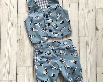 Boys Clothing Set, Boys First Birthday Outfit, Boys Suit for Wedding, Boys Suit Blue, Space Clothing, Baby Boy Birthday Outfit, Newborn Suit