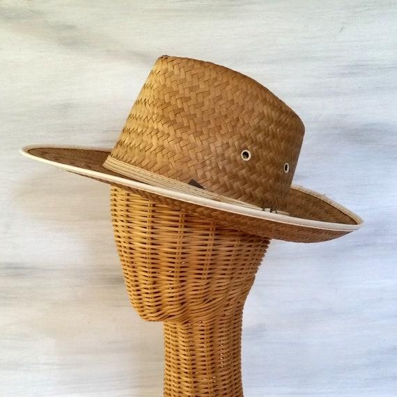 Vintage Straw Hat Panama Fedora Koko Kooler 7-7 1 4 Boater 75cd1fe20ee