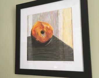 """Oil Pastel Painting """"Bruised Fruit 1"""""""