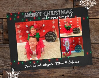 Digital Christmas Card - Holiday Cards - Merry Christmas Cards - Photo Christmas Cards