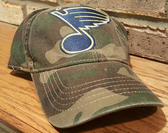 St. Louis Blues Camo Baseball Hat - Camouflage Blues Hockey Hat - STL Blues Hockey Cap