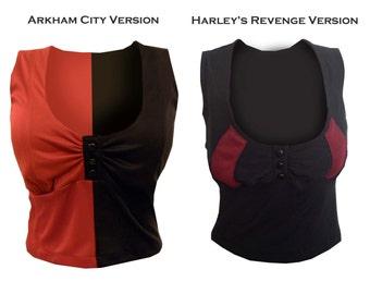 Harley Quinn Arkham City OR Revenge Shirt ONLY