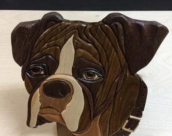 Dog-Boxer-Intarsia