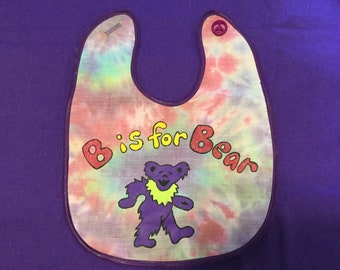 Grateful Dead Baby Bib, Dancing Bear