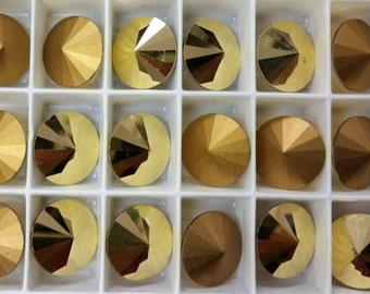 Aurum Gold 12mm 1122 Rivoli Swarovski Crystals (4)