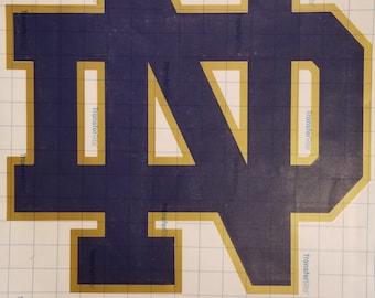 Notre Dame Fighting Irish Logo Vinyl Decal (10-12 Inches) - Windows, Walls, Cars, Indoor, Outdoors