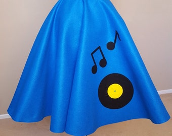 Custom Classic '50s Poodle Skirt: Rockin' Records