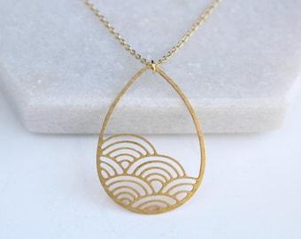 Raindrop necklace etsy raindrop cloud necklace brass atl n 179 aloadofball Gallery