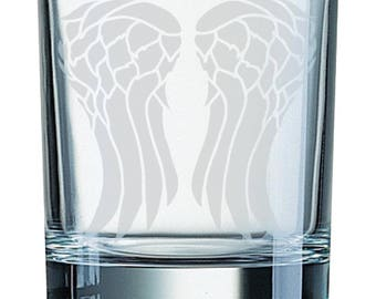 Wings - Etched glass Tumbler (300ml)