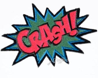 Neon CRASH Comic Book woorden opstrijkbare borduurwerk Patch MTCoffinz