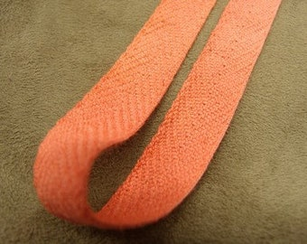 Ribbon orange Twill, 15mm, ideal for decoration, and all seams