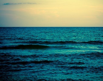 Large Ocean Photograph, Water and Sky, 24x30 Print by Tricia McKellar, No. 8549