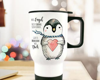 Thermo mug Cup Penguin love thank you TB61