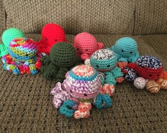 Mini Crochet Amigurumi Octopus Stuffy kawaii