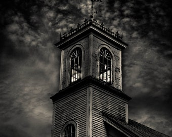 The Old Church, Antique Churches, Architecture, Buildings, Cityscape, Black and White Photography, Church Photography,