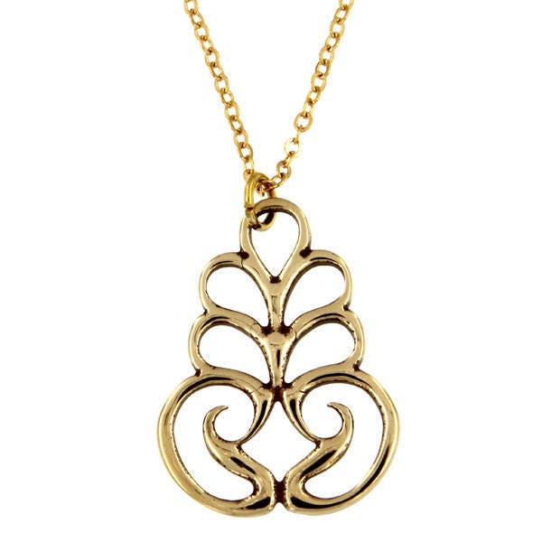 Scroll pendant bronze christmas pendant necklace hand made and gallery photo aloadofball Image collections
