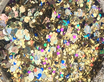 Buried Treasure Glitter Mix - Festival, Glitter Makeup, Nails, Craft