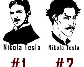 Nikola Tesla Vinyl Decal Sticker Car Window Wall Serbian American inventor