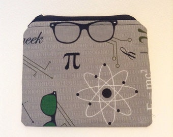 Geek Zipper Pouch - Nerd/Scientist Coin Purse
