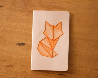Large Moleskine Journal with Fox Embroidery
