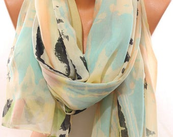 Pastel Multicolor Scarf Lightweight Spring Celebrations Spring Summer Scarf Women's Fashion Accessories Scarves Easter Gift Ideas For Her
