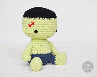 Little Frankenstein | Amigurumi | Stuffed Toy | PDF Crochet Pattern