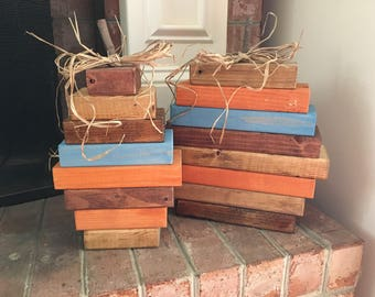 Wooden Pumpkins//Fall Decor//Stacked Wood Pumpkins//Front Porch Pumpkins//Fall Mantle Decor//Fireplace Pumpkins