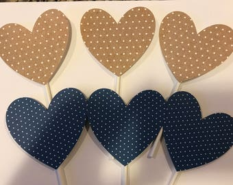 Rustic Heart toppers