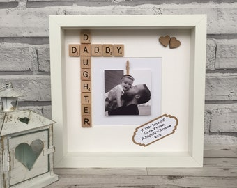 Daddy And Daughter Scrabble Frame, Daddy/Daughter Frame, Gift For Dad, Fathers Day Frame, Birthday Frame