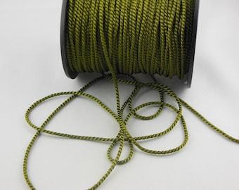 Soutache khaki twisted cord
