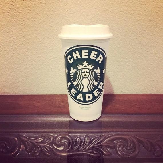 Cheerleader Starbucks Reusable Coffee Mug Cup