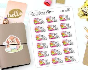 Lunch Planner Stickers - Sandwich Planner Stickers - Pack Lunch Planner Stickers - Kawaii Planner Stickers - Back To School Stickers - 205