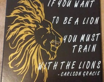 Inspirational tile / be a lion / inspirational / inspirational quote / home decor / tile / quote / gift / ceramic tile / inspirational gifts