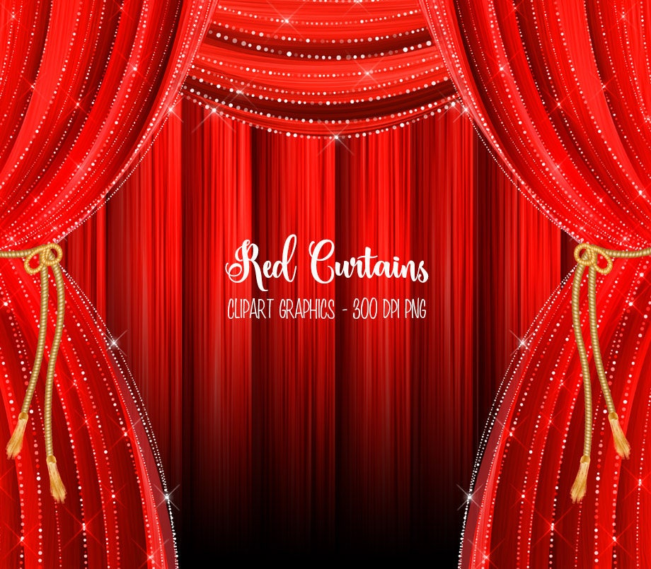 Red Curtains Clipart Red Curtain Backdrop Clip Art Graphics